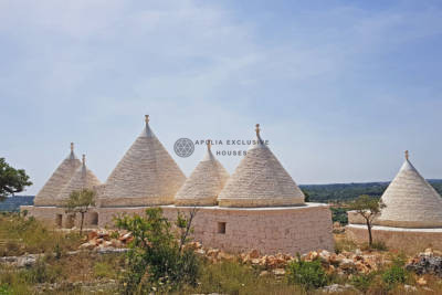 TRULLI CON PISCINA E INCREDIBILE PANORAMA OSTUNI PUGLIA